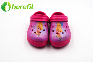 EVA Chirdren Printed Fusia Garden Shoes Popular
